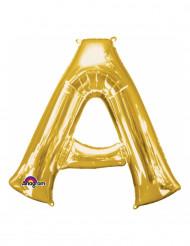 Folienballon Buchstabe A gold 33 cm