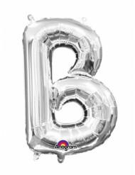 Aluminium-Ballon Buchstabe B silber 33 cm