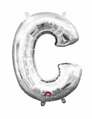 Aluminium-Ballon Buchstabe C silber 33 cm