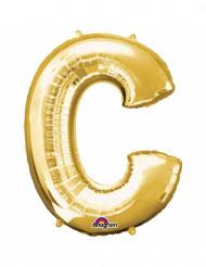 Aluminium-Ballon Buchstabe C goldfarben 33 cm