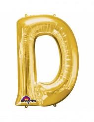 Aluminium-Ballon Buchstabe D goldfarben 33 cm