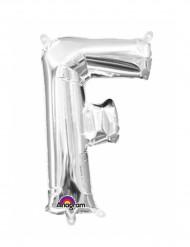 Aluminium-Ballon Buchstabe F silber 33 cm