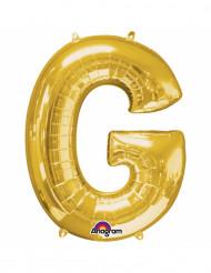 Aluminium-Ballon Buchstabe G goldfarben 33 cm