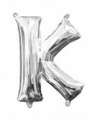Aluminium-Ballon Buchstabe K silber 33 cm
