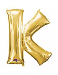 Aluminum-Ballon Buchstabe K goldfarben 33 cm