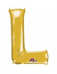 Aluminium-Ballon Buchstabe L goldfarben 33 cm