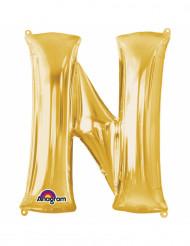 Aluminium-Ballon Buchstabe N goldfarben 33 cm