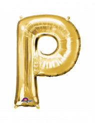 Aluminium-Ballon Buchstabe P goldfarben 33 cm
