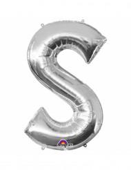 Aluminium-Ballon Buchstabe S silber 33 cm