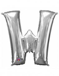Aluminium-Ballon Buchstabe W silber 33 cm