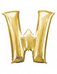 Aluminium-Ballon Buchstabe W goldfarben 33 cm
