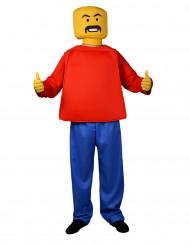 Spielfigur Kostüm Mr. Block Kopf Morphsuits Erwachsene
