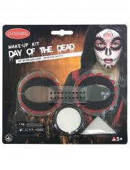 Farbiges Make-up-Set Göttin der Toten für Damen