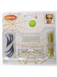 Halloween-Schminkset Hexe der Nacht für Damen