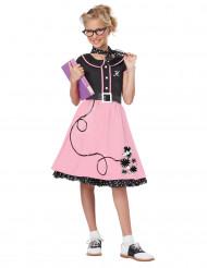 50er Jahre Outfit Kostüm für Mädchen mit Stickern
