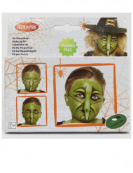 Make-up-Set Halloween-Hexe für Kinder