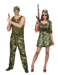 Soldaten-Paarkostüm