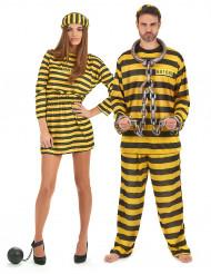 Häftlings-Paarkostüm