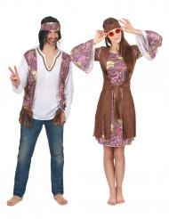 Hippie-Paarkostüm bunt