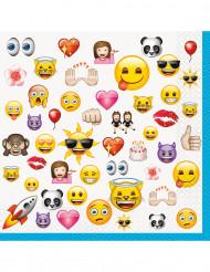 16 große Papierservietten Emojis™