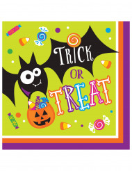 16 Halloween-Papierservietten Trick or Treat, 33 cm