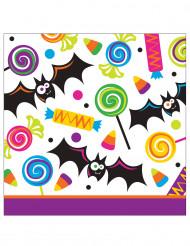 16 Papierservietten Süßes oder Saures Halloween 25 cm