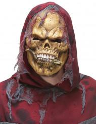 Skelett-Maske aus Latex mit Eidechse