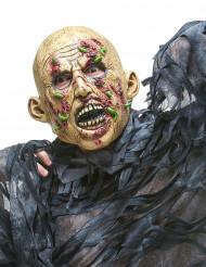 Zombie-Maske mit Maden