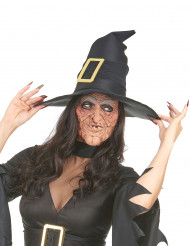 2 Latex-Masken faltige Hexe