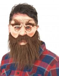 Bärtiger Mann Maske für Erwachsene