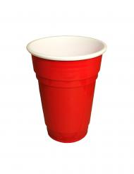 Party-Becher Tischzubehör 20 Stück rot-weiss 25cl