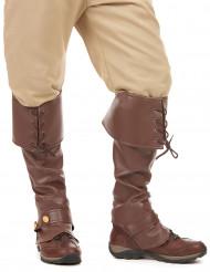 Mittelalterliche Stiefelstulpen für Erwachsene braun