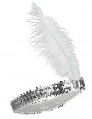 20er Pailletten Stirnband für Damen silber