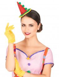 Clown Haarreif mit Minihut für Erwachsene