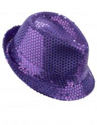 Lilafarbener Hut mit Pailletten
