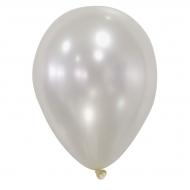 50 Luftballons Metallic-Elfenbeinfarbend