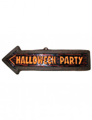 Halloween-Wanddekoration Wegweiser zur Party 57 x 19 cm