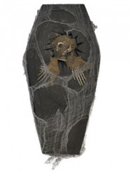 Skelett-Sarg Halloweendeko braun-grau 41 cm