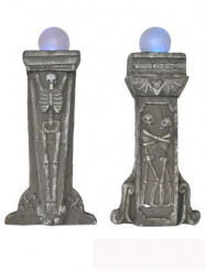 Leuchtende Dekoration mit Skelettmotiv