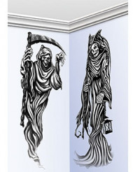 2 Halloween-Wandmotive Gevatter Tod, 150 cm