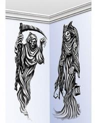2 Halloween-Wandmotive Gevatter Tod 150 cm