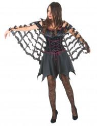 Spinnennetz-Umhang für Halloween Kostümzubehör schwarz
