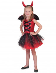 Teufel-Kostüm mit Tüll für Mädchen