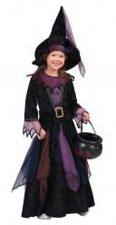 Hexenkostüm für Mädchen aus Samt