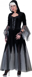 Schwarzes Gothic Kostüm für Damen