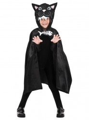 Halloween Kinder-Umhang Katze schwarz 75 cm