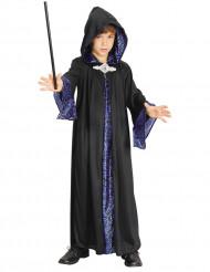 Magisches Zauberer-Kostüm für Kinder schwarz-blau