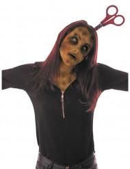 Stirnband blutige Schere Erwachsene Halloween