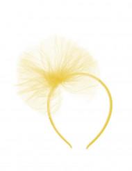 Haarreif mit Tüllschleife für Mädchen - gelb