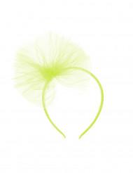 Haarreif mit Tüllschleife für Mädchen - neongrün